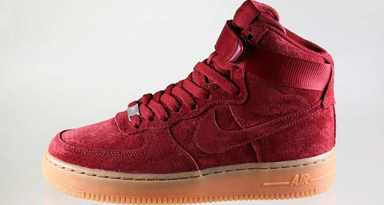 nike air force one high suede red pumps