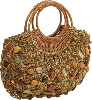 Cappelli Straw Macrame bag w/stones  Brown Multi - via eBags.com!