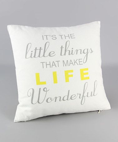 Love This Little Things Linen Throw Pillow On Zulily