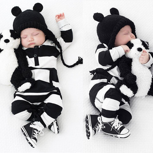 d0bb8f66486 US Newborn Baby Boy Girls Striped Cotton Romper Jumpsuit Bodysuit Outfit  Clothes  Unbranded  CasualFormalParty