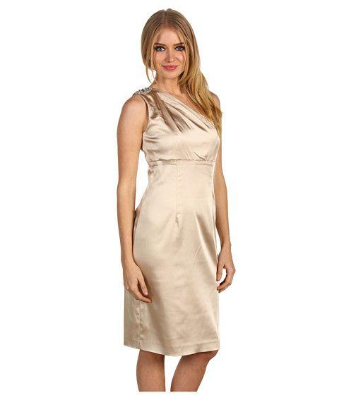 Calvin Klein One-Shoulder Dress CD1J1KE8 Champagne - 41