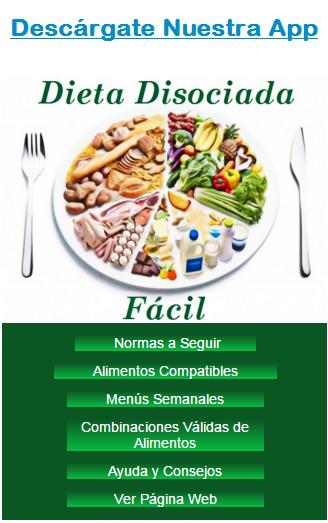 Recetas postres dieta disociada menu
