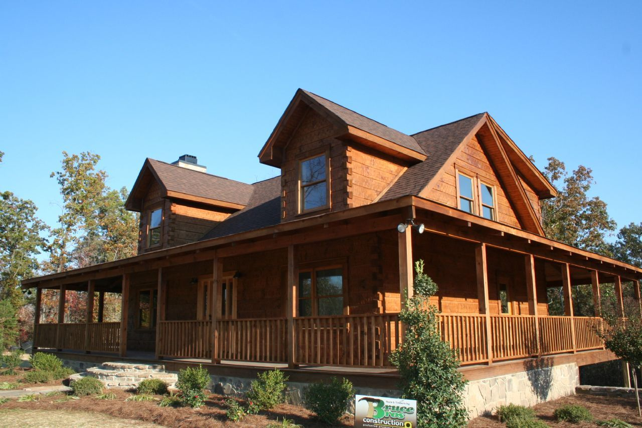 Design Log Homes With Wrap Around Porches Featured Property - Country homes designs floor plans