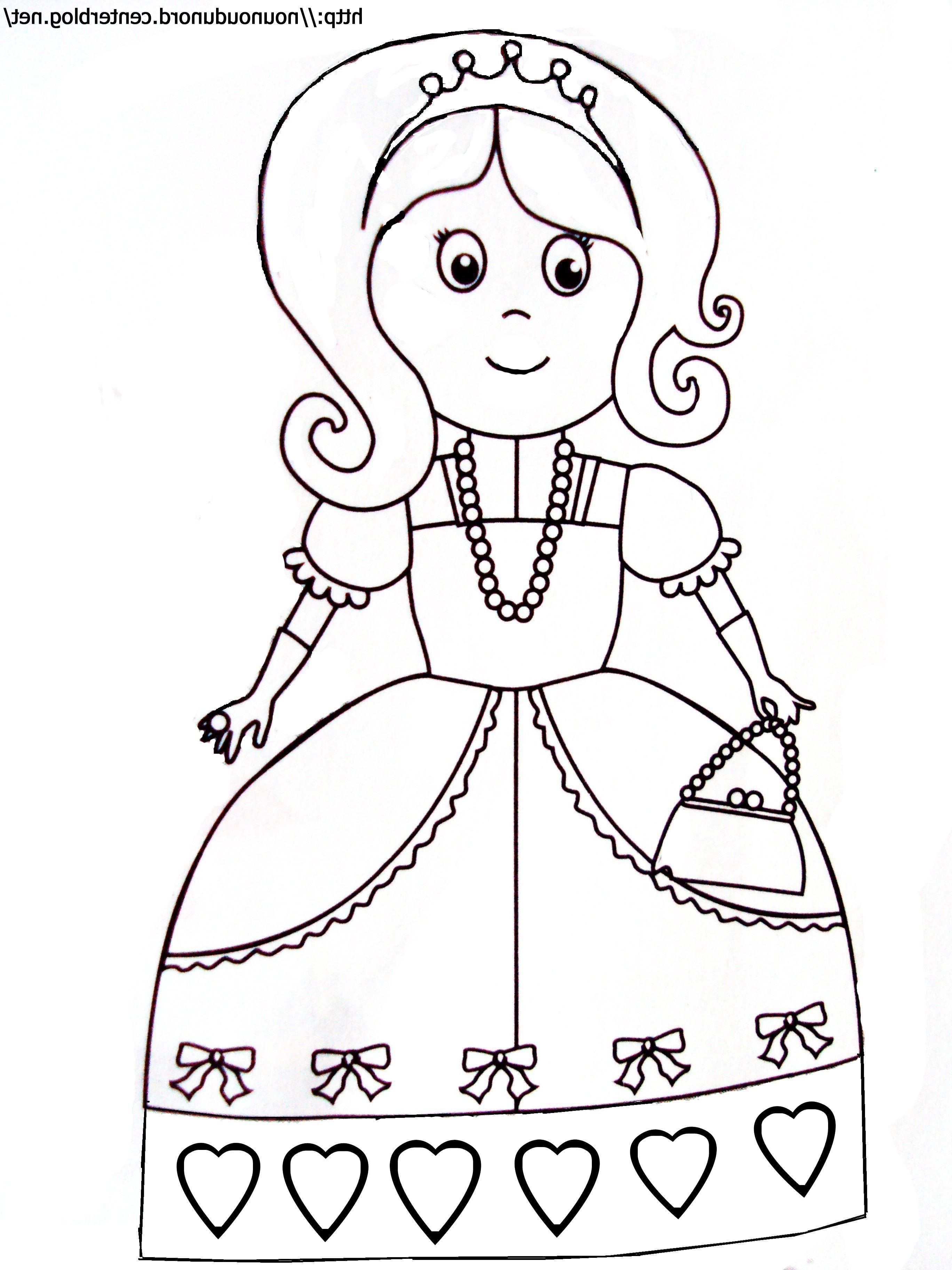 Coloriage Princesse Facile
