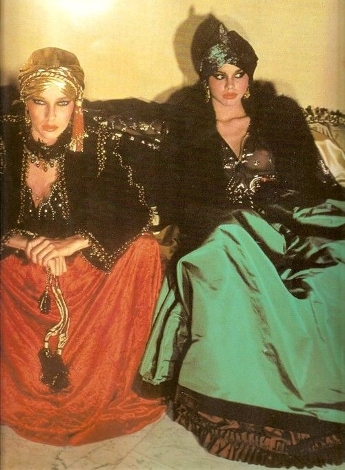 superseventies:    Middle eastern inspired fashion by Yves St Laurent.