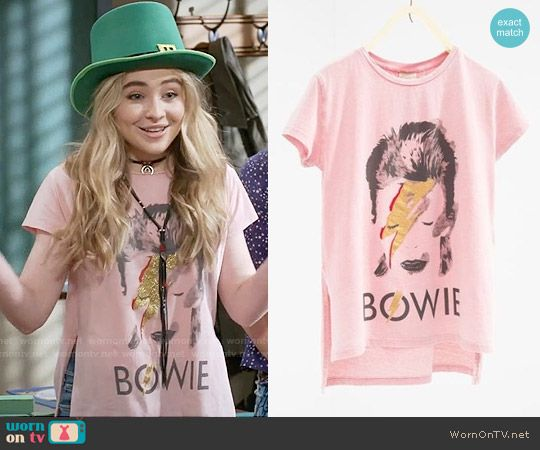 hat hair styles s pink bowie t shirt with glitter on meets world 4772