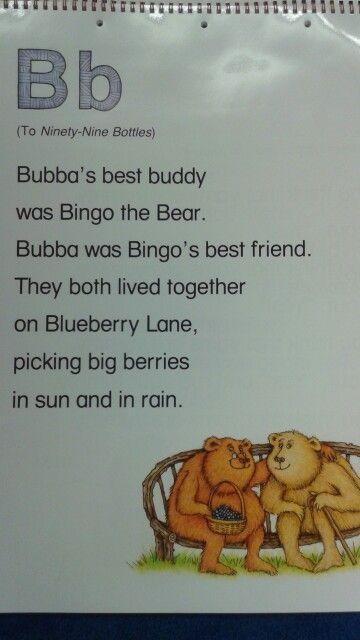 B Alliteration Poem Lessons Pre Kindergarten