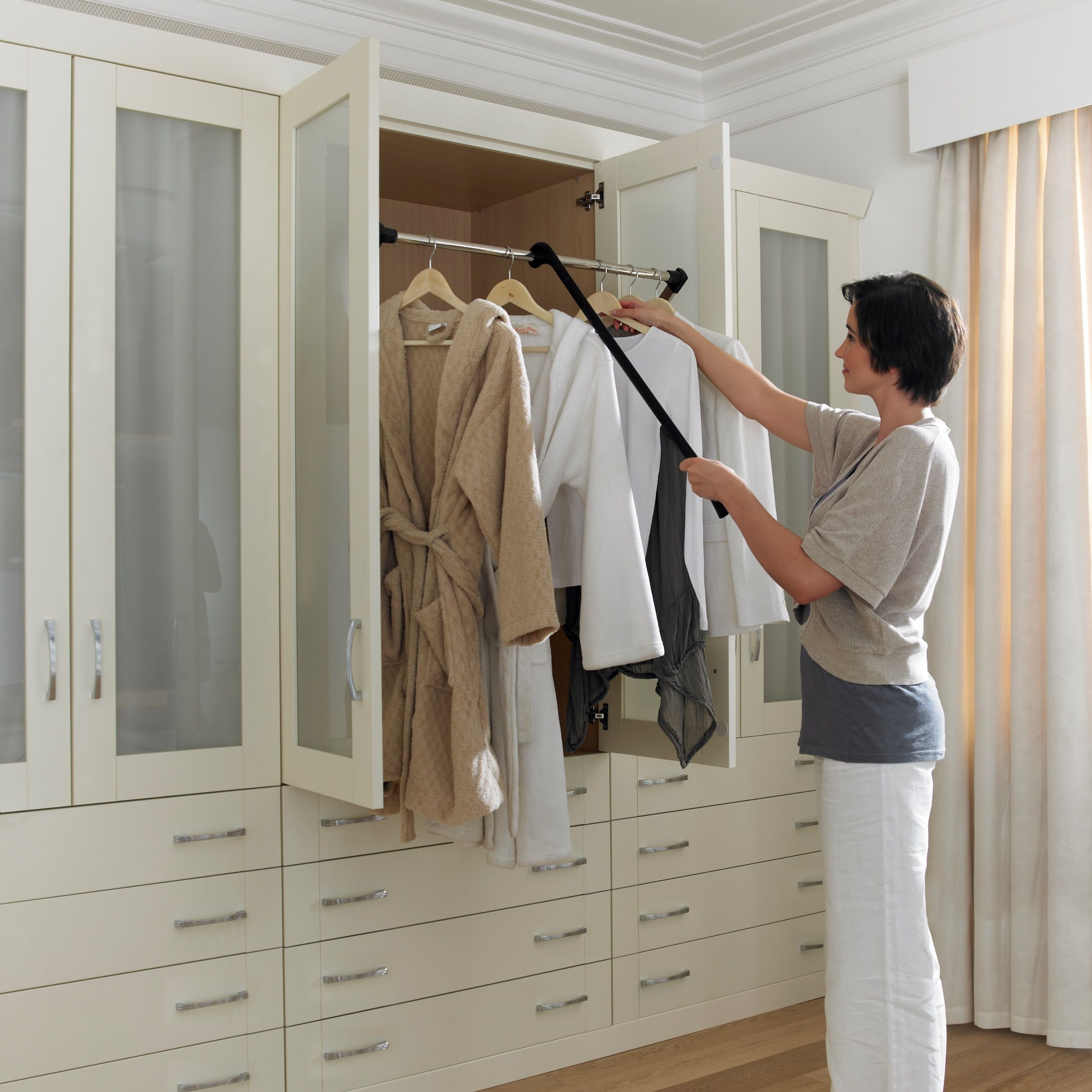 Pull Down Closet Rod For The Home In 2019 Closet Rod