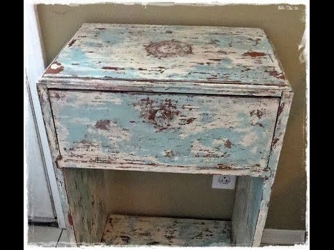 How-to PaintDistressAntique Furniture Project  painted green