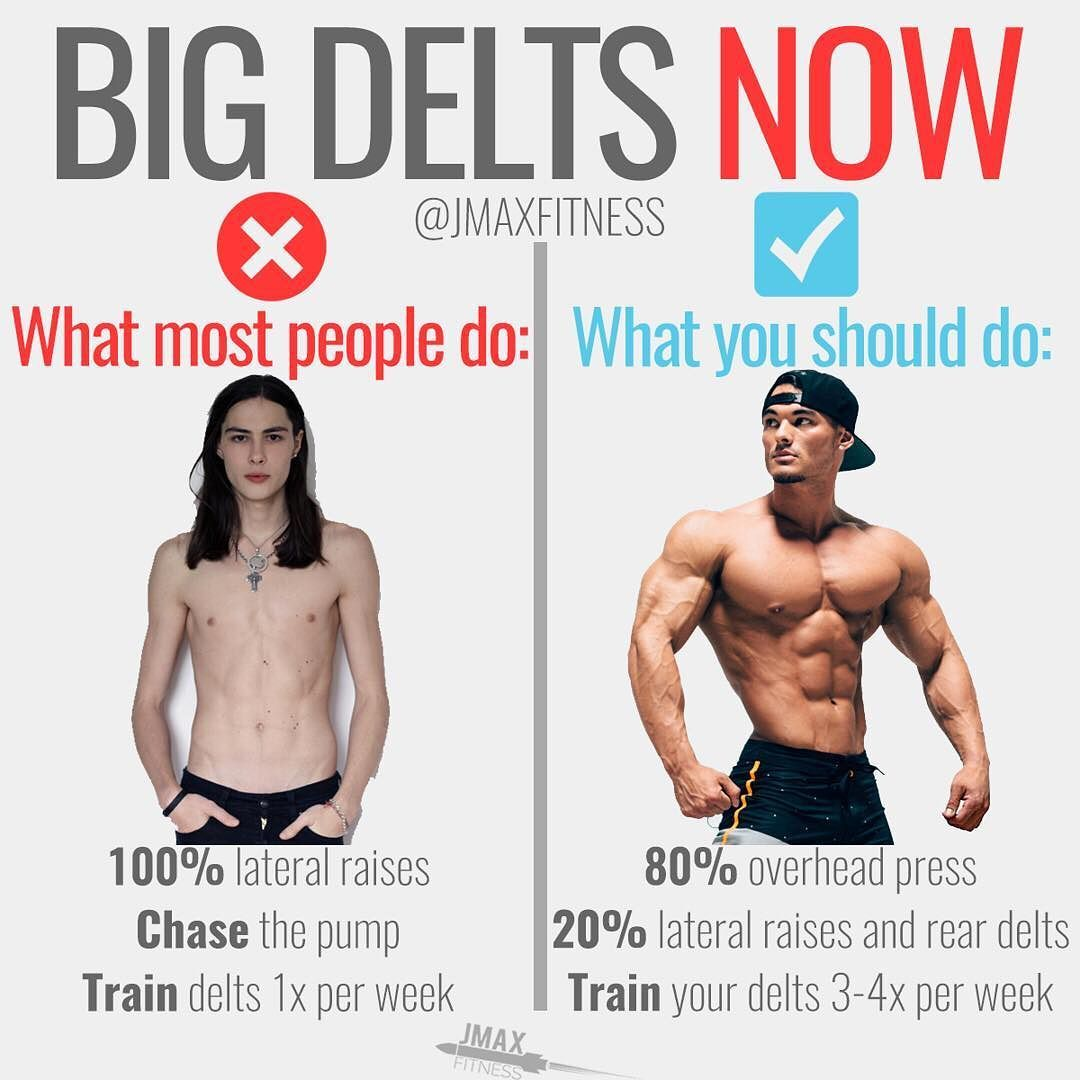 BIG DELTS NOW by @jmaxfitness - If you want to build big