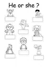 Image result for he she it worksheet for kindergarten