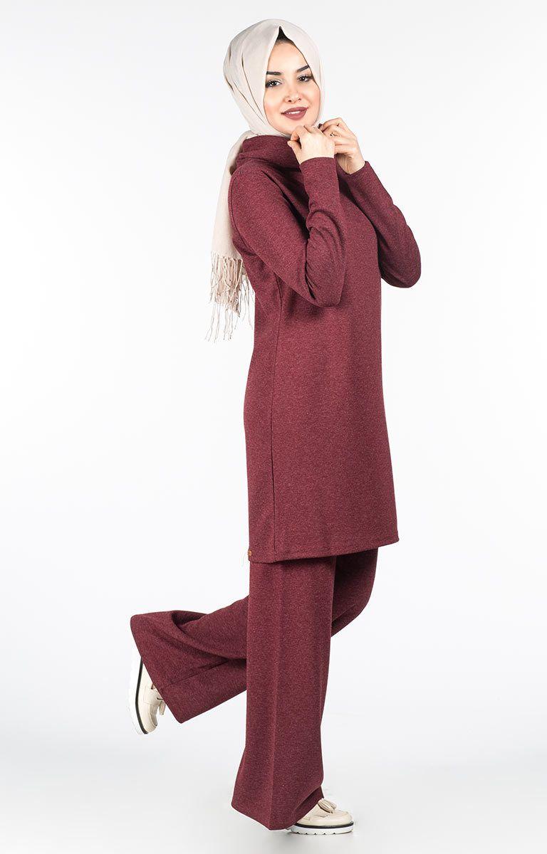 8a5f26f5636dc Tesettür Tunik Pantolon Takım Modelleri   spor giyim in 2019 ...