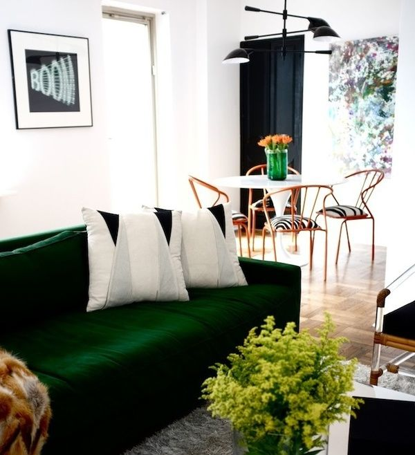 The Black Accents Add Sophistication To This Emerald