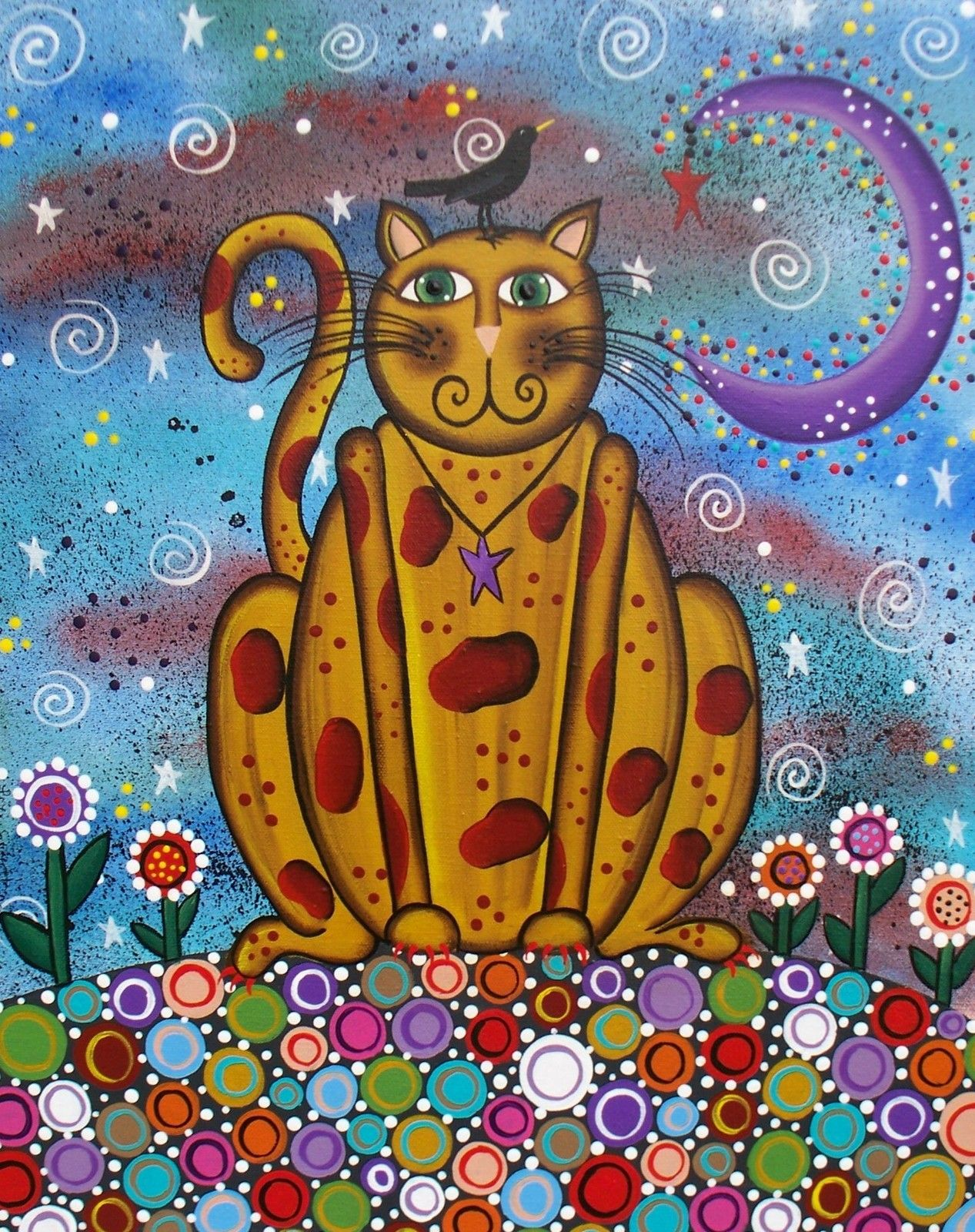 Cat Green Eye's by Lori Everett