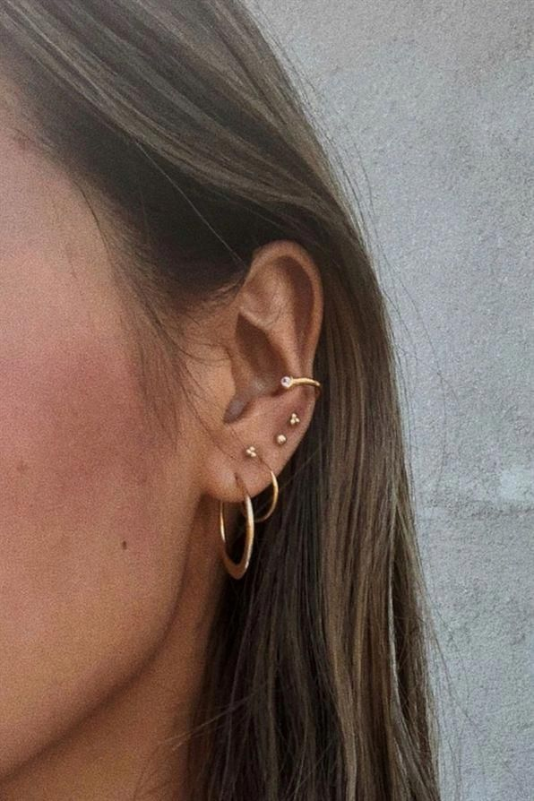 Photo of Golden Apatite Crystal in 14K Rose Gold Fill Studs, Amber Crystal Earrings. Raw Rough Crystal and Gold Jewelry, Modern Pronged Jewelry – Fine Jewelry Ideas