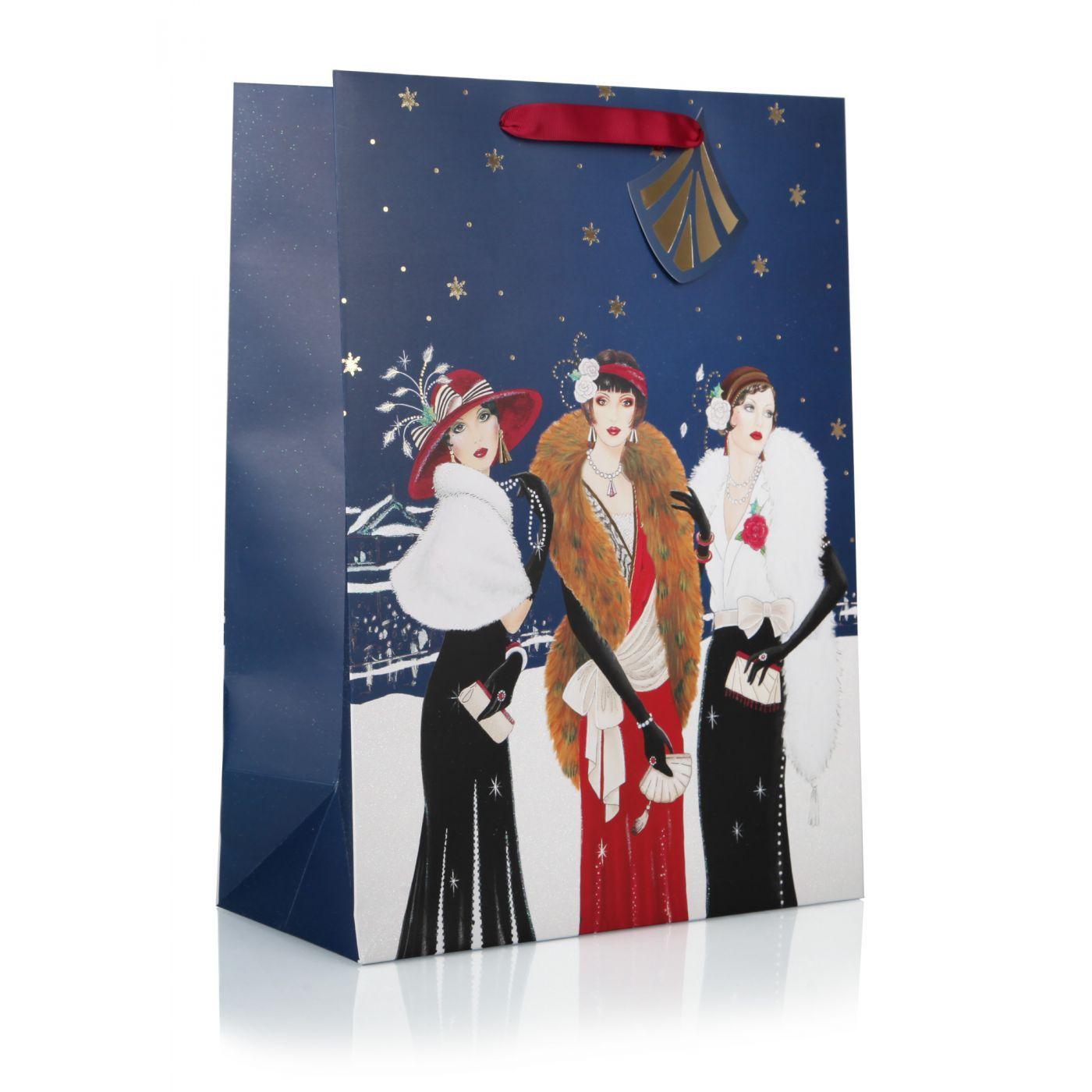Deco three ladies extra large gift bag christmas gift