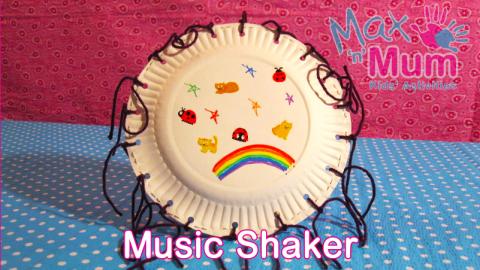 How To Make A Music Shaker Craft With Paper Plates Final Picture
