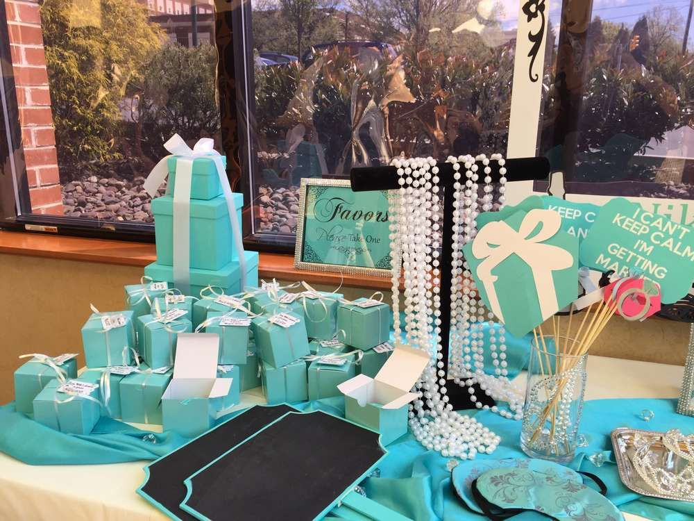 tiffany bridal shower party decorations see more party planning ideas at catchmypartycom