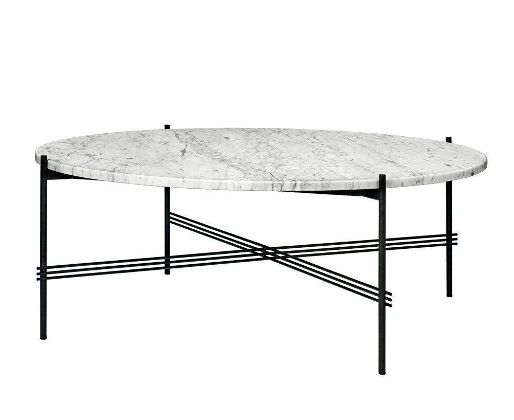 Ts Coffee Table X Large Marble Wohnzimmertische Runder Kaffeetisch Couchtisch Schwarz