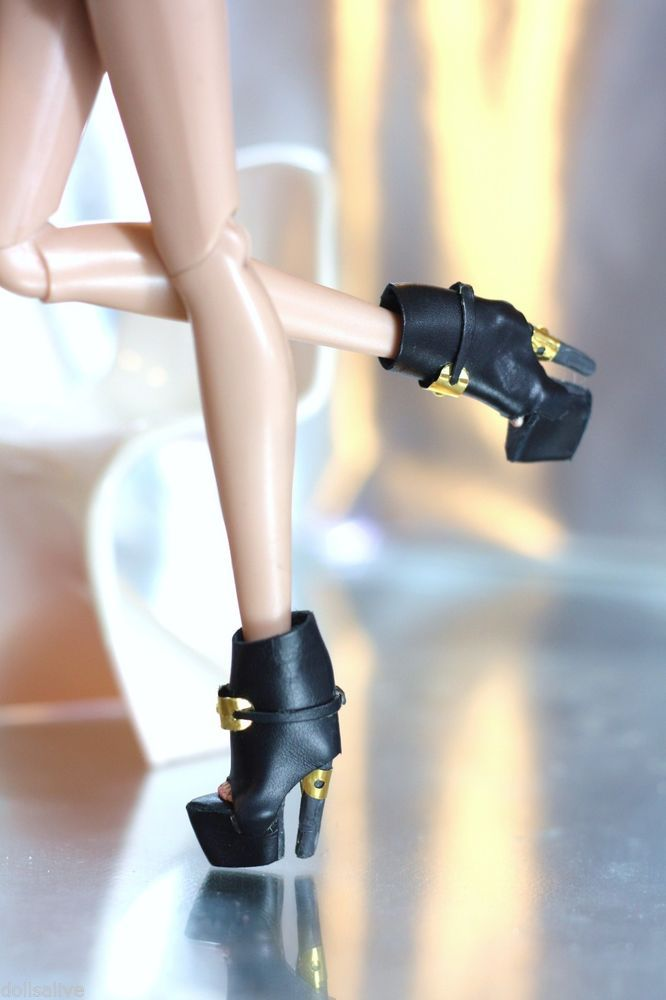 Fashion royalty black ankle boots,FR2.