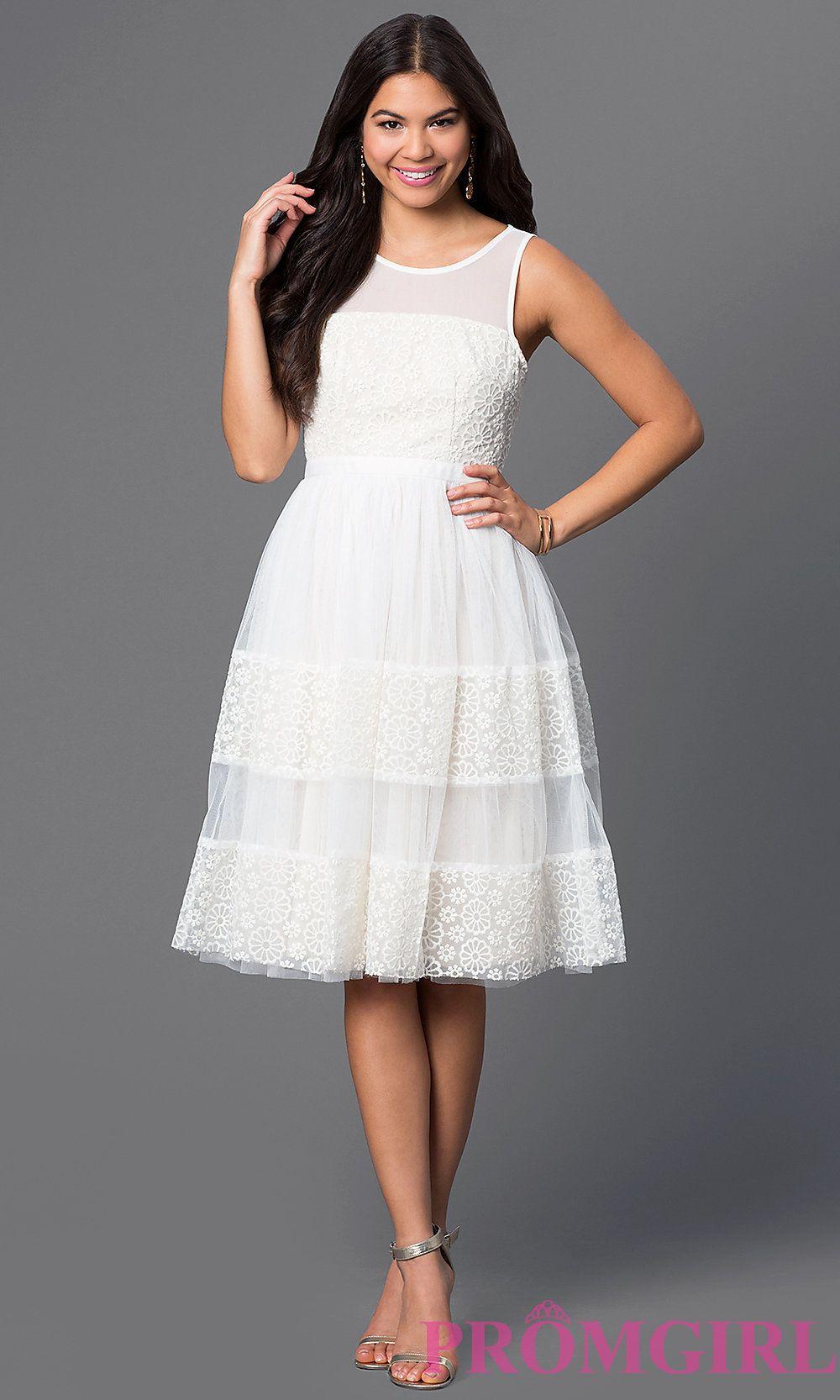f20793c256 Sleeveless Knee Length Party Dress Style  LP-23510
