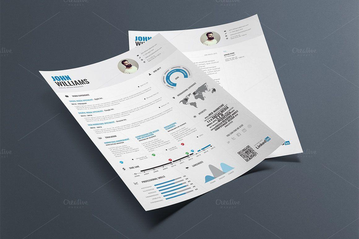 Infographic Resume/Cv Template Vol.1   Pinterest