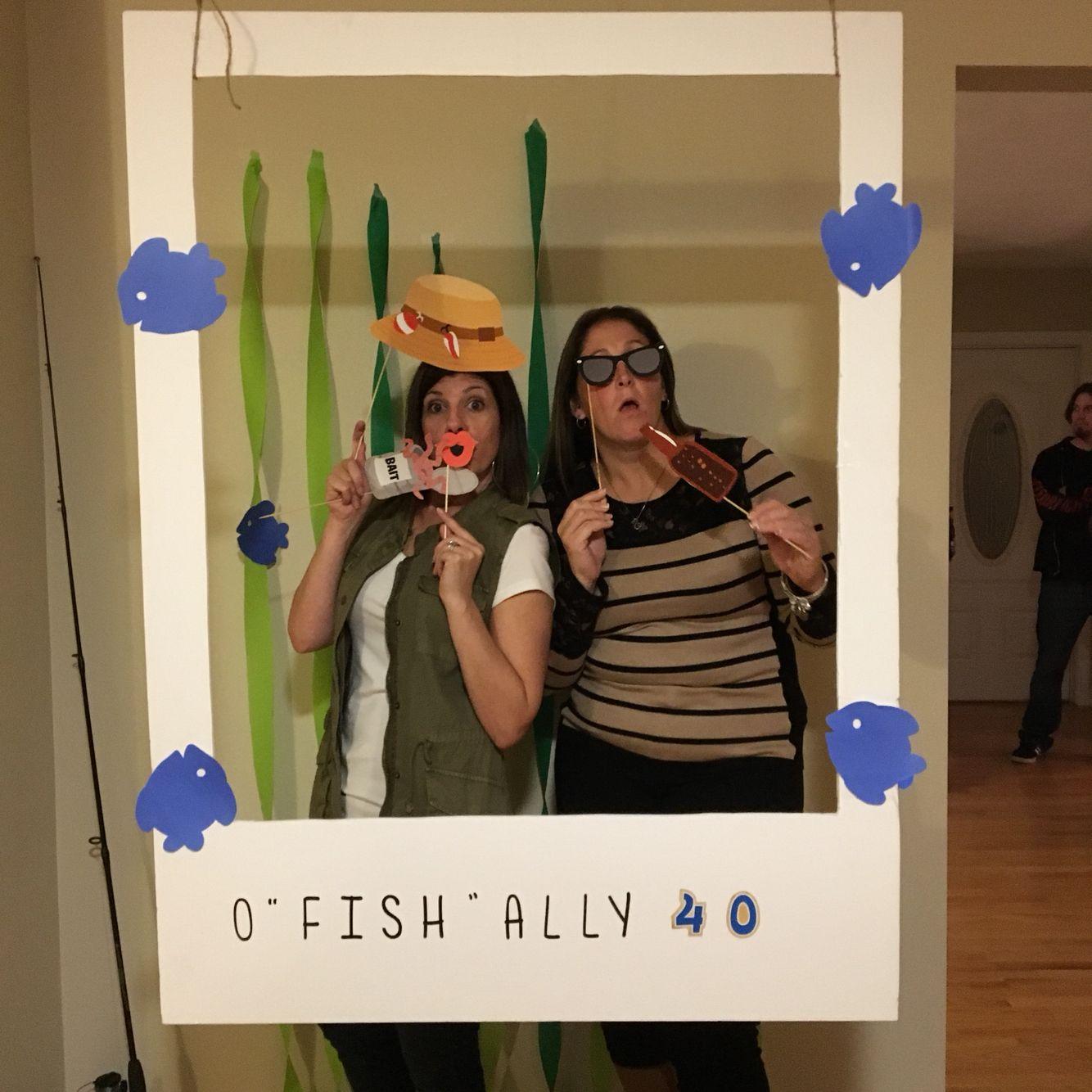 Fishing themed 40th Birthday Photo Booth