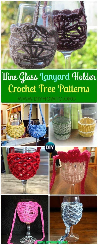 Crochet Wine Glass Lanyard Holder Free Patterns Glass Lanyard