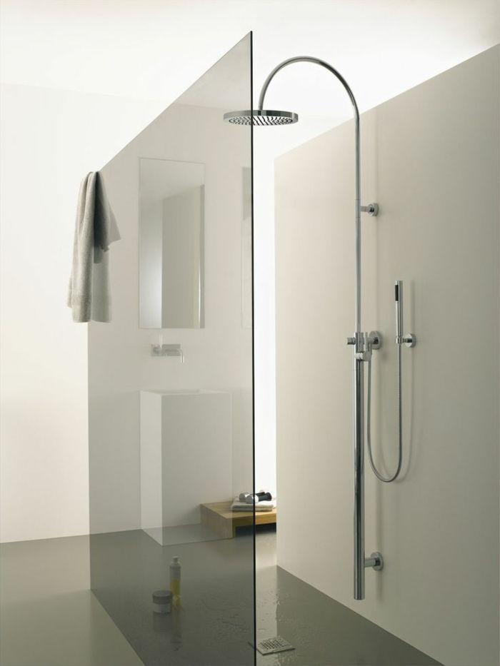 Elegant Minimalistische Badgestaltung Ideen Ebenerdige Dusche