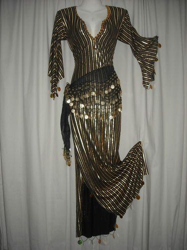 56175d0198933 Belly Dancing 152362: Belly Dance Dress Abaya Galabeya Baladi Costume Saidi  Many Colors Gold -> BUY IT NOW ONLY: $290.77 on eBay!