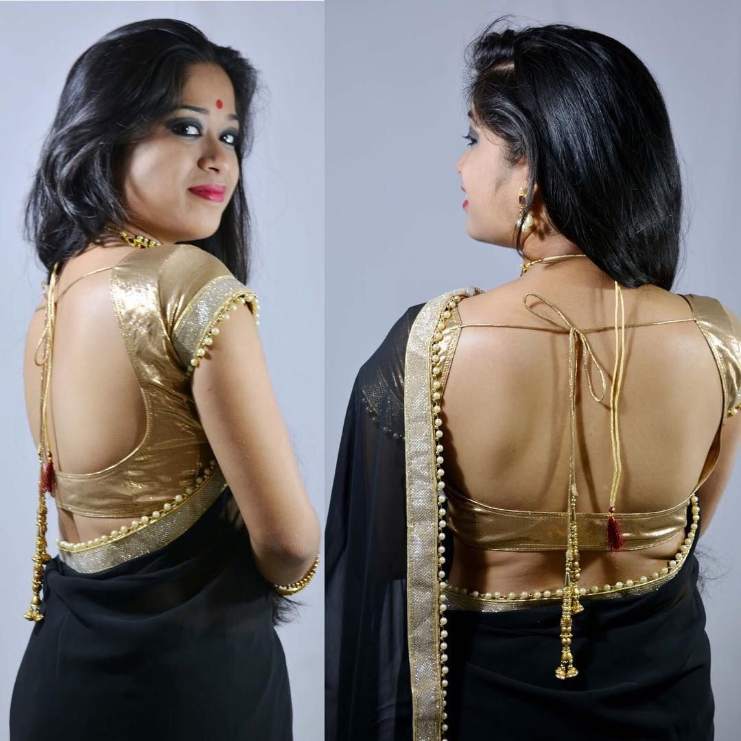 2019 year looks- How to backless wear blouse without bra
