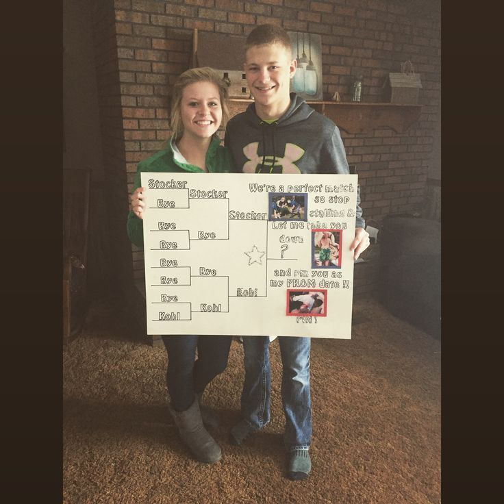 Prom Proposal ❤ Wrestling-Stil #homecomingproposalideas #Homecoming Proposal #promproposal