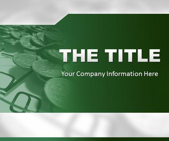 Green Finance Powerpoint Template Templates Powerpoint Template Free Powerpoint Templates