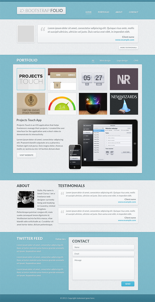 Bootstrap Portfolio Create An Awesome Layout In CS6