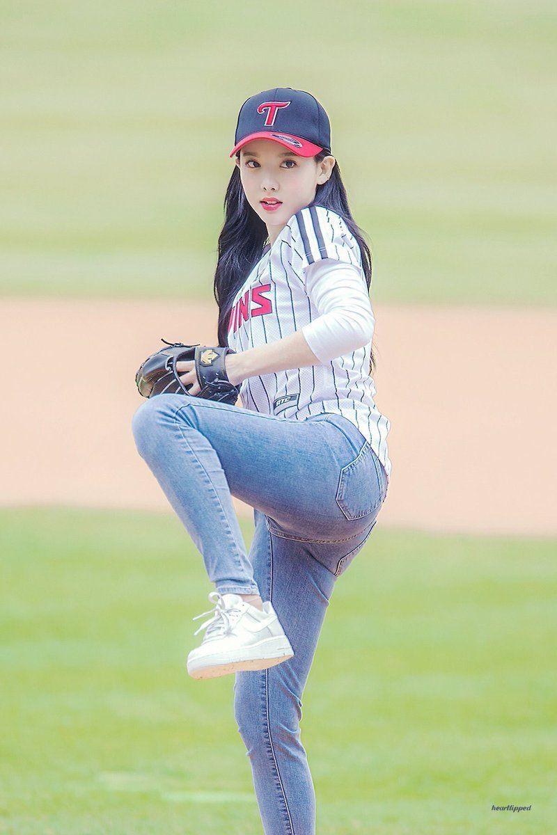 Dedicated To Female Kpop Idols Nayeon Baseball Girls Korean Girl