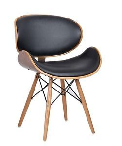 Eames Retro Style DSW Faux Leather Lounge Dining Office Chair  Solid Wood Legs