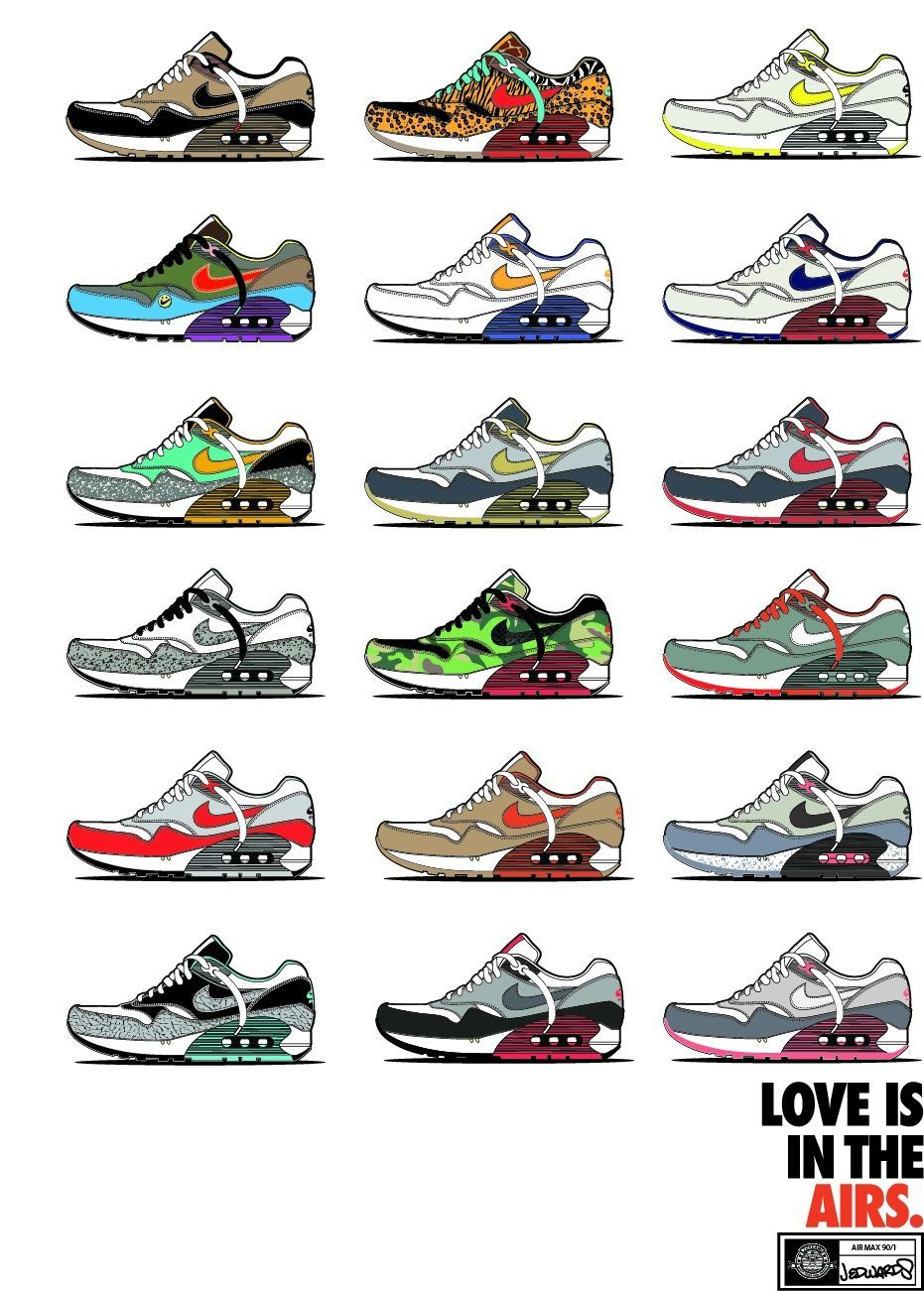 ICONIC COLORWAYS OF THE NEW NIKE AIR MAX 901 SNEAKER 19X 13