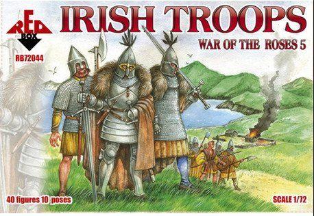 Plastic Model Figures War Of The Roses 5 Irish Troops 40 Figures In 10 Poses 1 72 Red Box 72044 Wars Of The Roses Irish History War