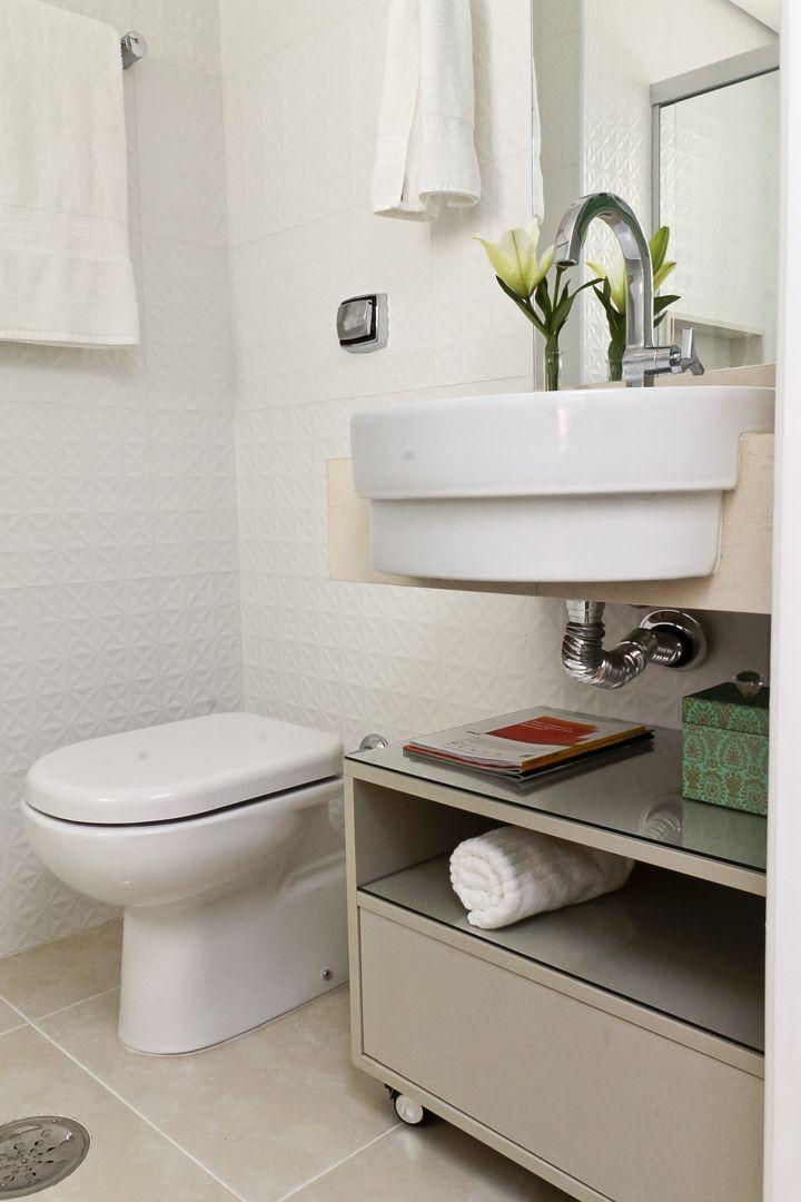 Pequeno Cheio De Estilo Decoracao Banheiro Ideias Balcao Para