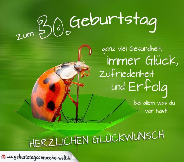 30 Geburtstag Karte Herzlichen Gluckwunsch Geburtstagsspruche