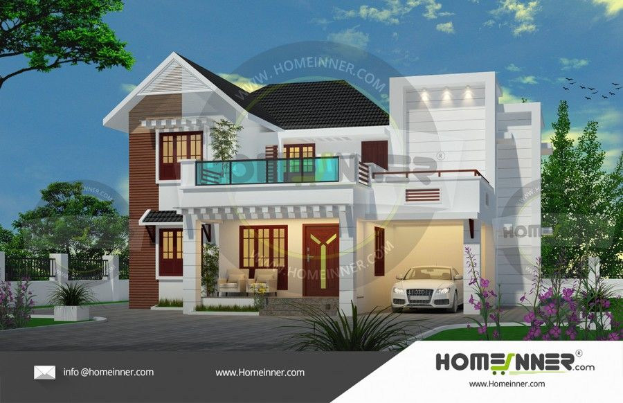 Modern 4 Bedroom House Plans Budget House Plans Model House Plan Kerala House Design