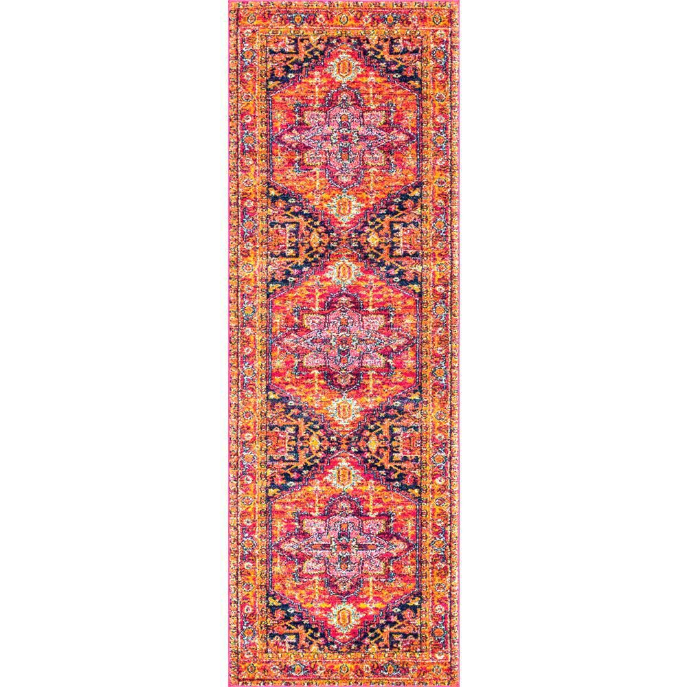 Nuloom Vonda Persian Pink 3 Ft X 12 Ft Runner Rzbd32a 28012 Persian Rug Rugs Area Rugs