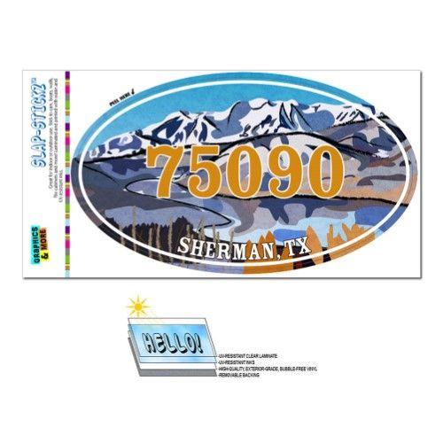 75090 Sherman Tx Snowy Mountain Lake Oval Zip Code