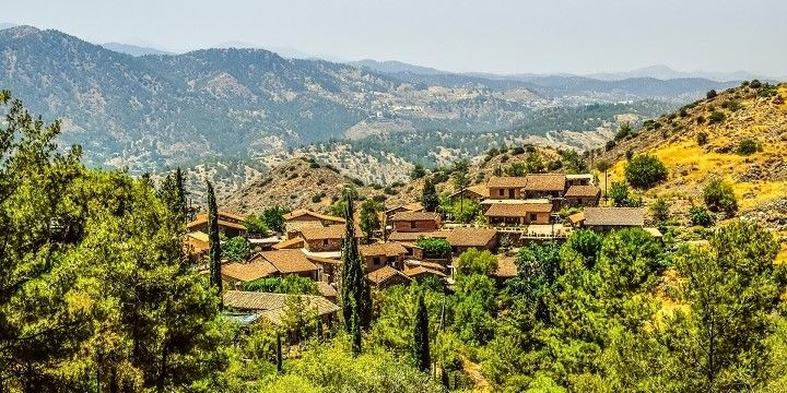 Village in the Troodos Mountains, Cyprus, Europe