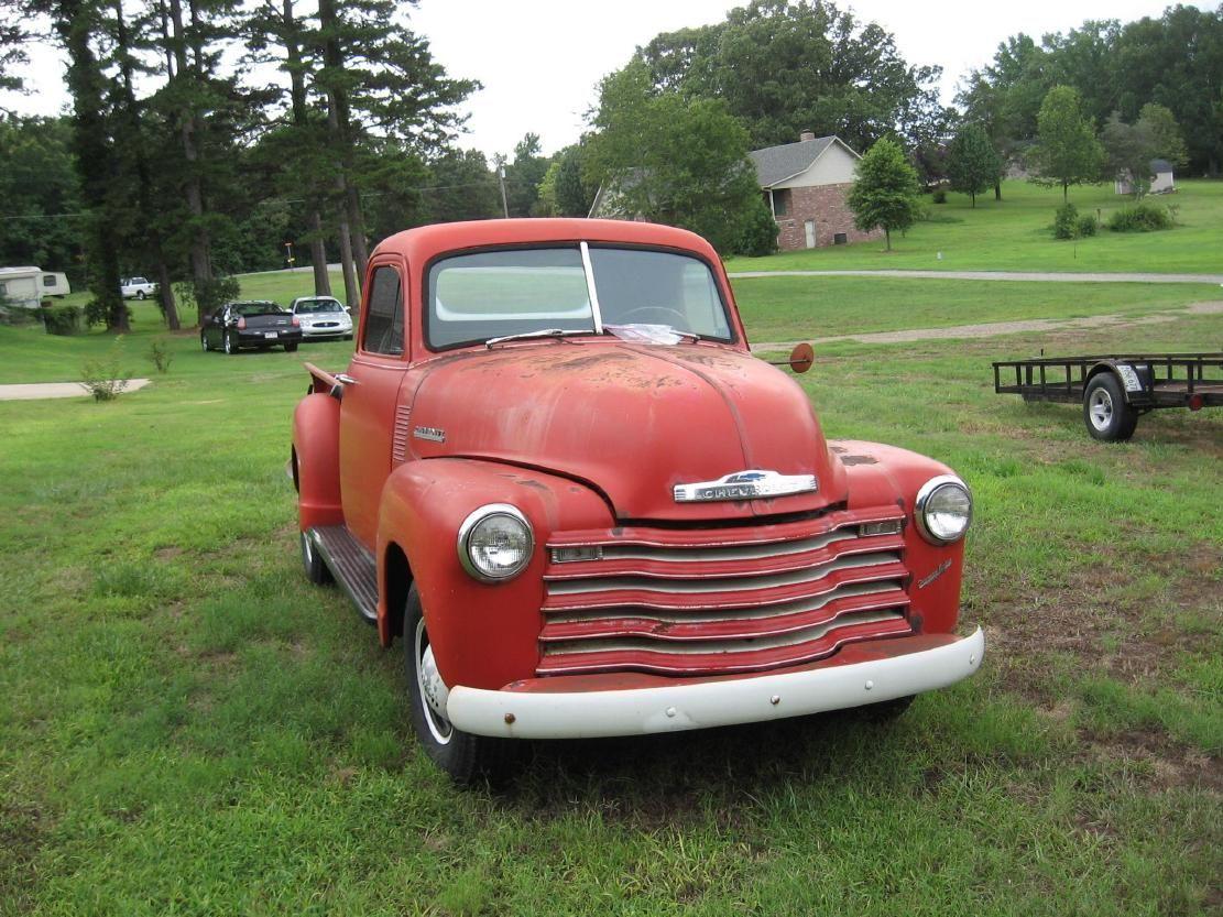 52 Chevrolet Pickup Old Trucks Red Pickup
