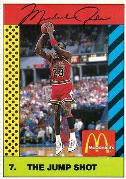 586e66dd0702 Michael Jordan McDonalds Promo Basketball Card.  basketball  dansbasketball   sportscards  basketballcards  cards  mcdonalds