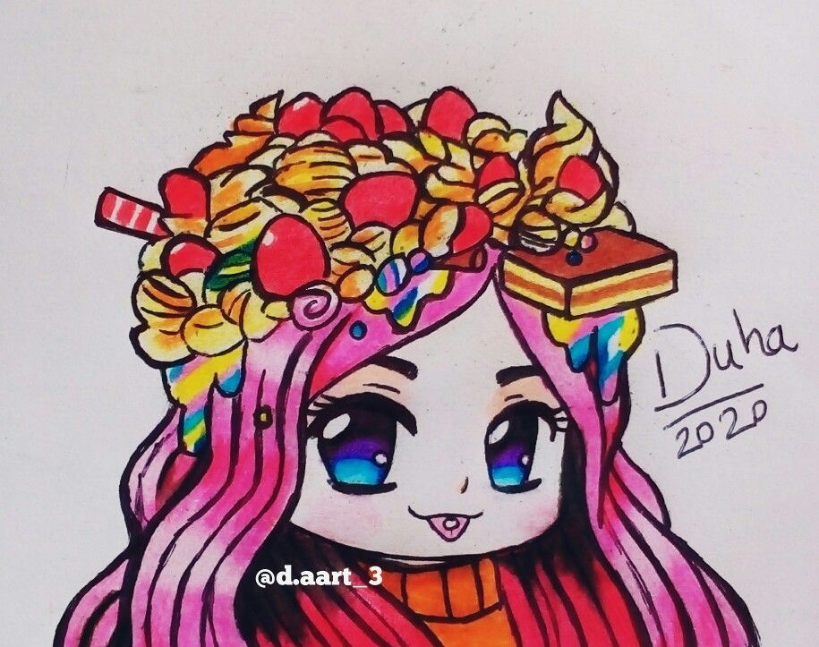 Candy Chibi Anime Drawings Drawings Art