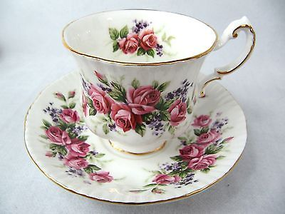 PARAGON CUP AND SAUCER - ELIZABETHAN SHAPE - ROSES