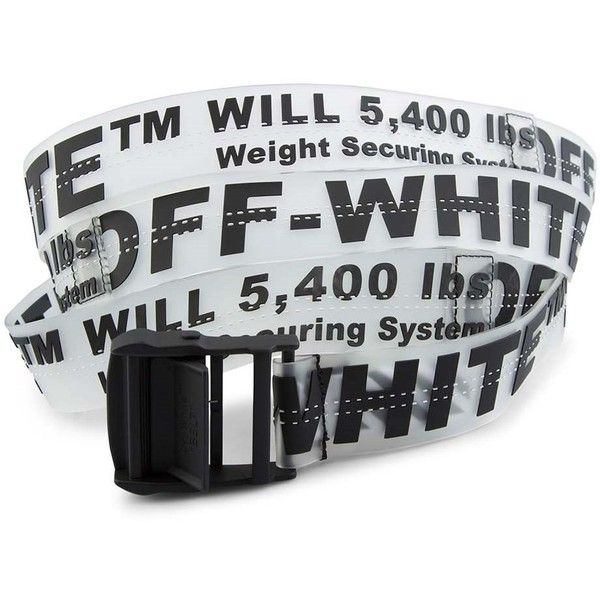 501da5a30a8c OFF-WHITE Rubber Industrial Belt ( 250) ❤ liked on Polyvore featuring  accessories