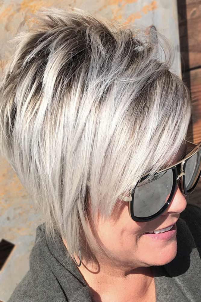 33 Youthful Ideas Of Wearing Bang Hairstyles For Older Women #longpixiehairstyles